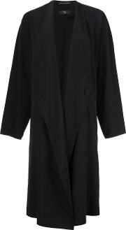 Ys , Y's Oversized Coat Women Polyesterlyocell 1, Black
