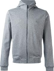 Z Zegna , Classic Long Sleeve Hoodie Men Cottonpolyester Xxl, Grey