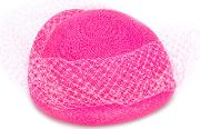 Federica Moretti , Veil Embellished Woven Hat Women Polyamidepolyesterstraw One Size, Pinkpurple