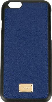 Dolce & Gabbana , Textured Iphone 6 Case Women Leather One Size, Blue