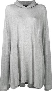 Area Di Barbara Bologna , Oversize Hooded Top Women Polyamidepolyesterspandexelastaneviscose One Size, Women's, Grey