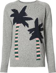 Chinti And Parker , Palm Trees Jumper Women Cashmere M, Women's, Grey