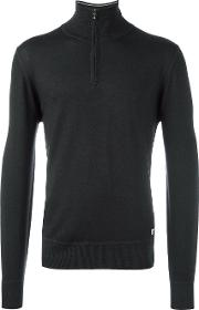 Cp Company , Zipped Turtleneck Jumper Men Wool 48, Grey