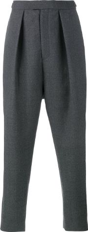 Curieux , Pleated Tapered Trousers Men Wool S