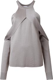 Dion Lee , Sleeve Release Evening Blouse Women Rayon 12, Women's, Grey