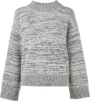 Dkny Pure , Melange Mock Neck Jumper Women Nylonwool S, Women's, Grey