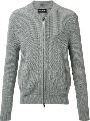 Exemplaire , Ribbed Zip Up Jumper Men Cashmere L, Grey