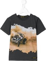 Finger In The Nose , Rally Print T Shirt Kids Cotton 6 Yrs, Boy's, Grey