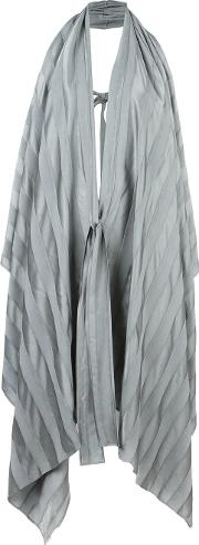 Masnada , Tied Sleeveless Coat Women Viscose 44, Women's, Grey