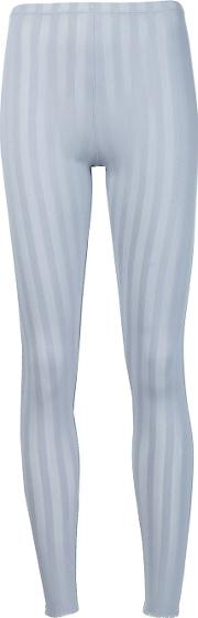 Pleats Please By Issey Miyake , 'relax Stripe' Leggings Women Nylonpolyesterpolyurethane 3, Women's, Grey