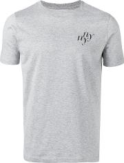 Saturdays Nyc , Ny Print T Shirt Men Cotton M, Grey