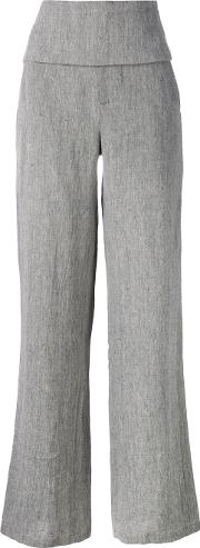 Societe Anonyme , Smoking Palace Wide Leg Trousers Women Linenflax 42, Women's, Grey