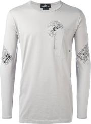 Stone Island Shadow Project , Chest Pocket Longsleeved T Shirt Men Cotton S, Grey
