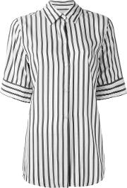 Studio Nicholson , Striped Shortsleeved Shirt Women Silk 3, Women's, Grey