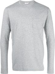 Sunspel , Plain Sweatshirt Men Cotton S, Grey