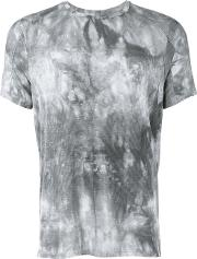 Tom Rebl , Abstract Print T Shirt Men Spandexelastaneviscose M, Grey