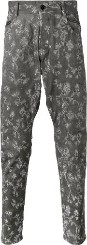 Unconditional , Embroidered Drop Crotch Jeans Men Cottonspandexelastane Xs
