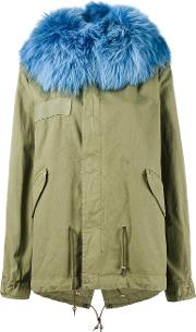 Mr & Mrs Italy , Unlined Parka Jacket With Contrasting Raccoon Fur Hood Women Cottonracoon Fur Xs
