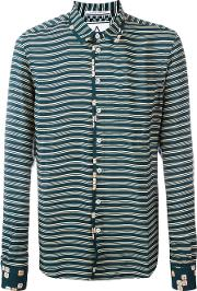 Andrea Pompilio , Striped Shirt Men Viscose 46, Green
