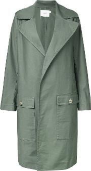 Bassike , Oversized Coat Women Cottonpolyurethane 12, Women's, Green