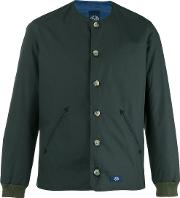 Bleu De Paname , Buttoned Bomber Jacket Men Cottonpolyester M, Green