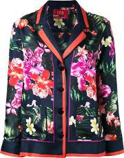 Frs For Restless Sleepers , F.r.s For Restless Sleepers Floral Print Shirt Women Silk Xs