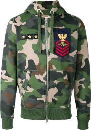 History Repeats , Camouflage Print Hoodie Men Cottonpolyester M