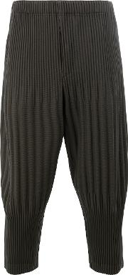 Homme Plisse Issey Miyake , Pleated Cropped Trousers Men Polyester 3