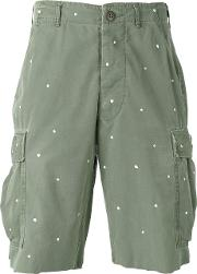 Htc Hollywood Trading Company , Dots Print Cargo Shorts Men Cotton M