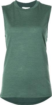 Just Female , Loose Fit Tank Women Silkwool S, Women's, Green