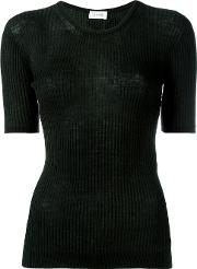 Lemaire , Ribbed Knitted T Shirt Women Wool L, Women's, Green