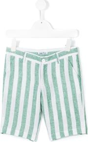 Little Bear , Striped Shorts Kids Linenflax 6 Yrs, White