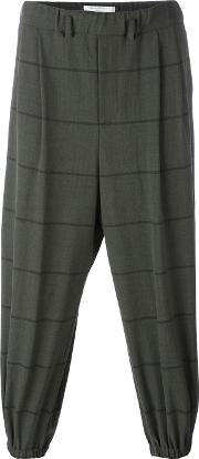 Lucio Vanotti , Striped Elasticated Trousers Men Cottonpolyesterspandexelastanewool 3