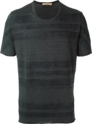 Nuur , Striped T Shirt Men Linenflaxspandexelastane 52