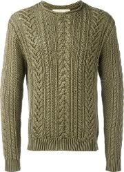 Ralph Lauren Denim & Supply , Cable Knit Jumper Men Cotton S, Green
