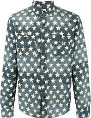 Ralph Lauren Denim & Supply , Star Print Shirt Men Cotton L, Green