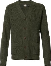 Rrl , Patch Pockets Buttoned Cardigan Men Cashmere M, Green