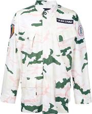 Sankuanz , Camouflage Jacket Men Cottonpolyester M, White