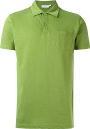 Sunspel , Patch Pocket Polo Shirt Men Cotton L, Green