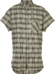 Zanerobe , Checked Shortsleeved Shirt Men Cotton S