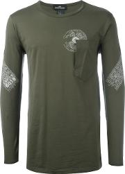Stone Island Shadow Project , Patch Pocket T Shirt Men Cotton M, Green