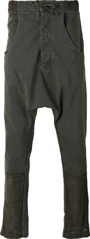 Andrea Yaaqov , Andrea Ya'aqov Drop Crotch Trousers Men Cottonlinenflax S, Brown