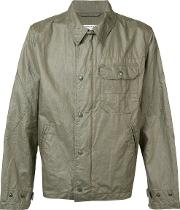 Engineered Garments , Chest Pocket Jacket Men Linenflax M, Green