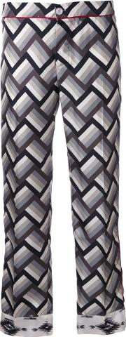 Frs For Restless Sleepers , F.r.s For Restless Sleepers Geometric Print Pyjama Trousers Women Silk S, Black