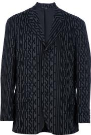 Moschino Vintage , Printed Suit Men Wool M, Black