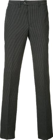 Officine Generale , Striped Tailored Trousers Men Cotton 52, Black