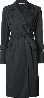 Protagonist , Fitted Trench Coat Women Silkpolyester 8, Black