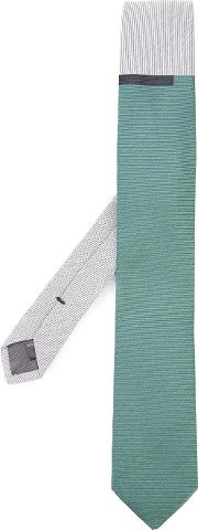 Title Of Work , Two Tone Tie Unisex Silkcotton One Size, Green