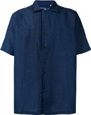 Levis Made & Crafted , Levi's Made & Crafted Short Sleeve Shirt Unisex Cottonlinenflax 1, Blue