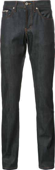 Naked And Famous , Slim Fit Jeans Men Cottonspandexelastane 30, Blue